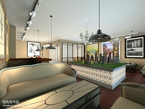 欧式精品餐厅窗帘效果图