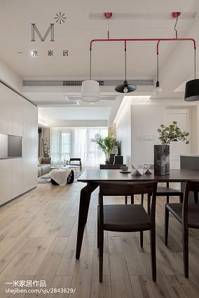 2018精选103平米三居餐厅现代效果图片欣赏