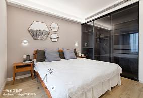 质朴109平北欧三居卧室实拍图