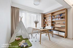 优雅106平北欧三居书房装修设计图