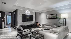 经典灰现代客厅设计图片
