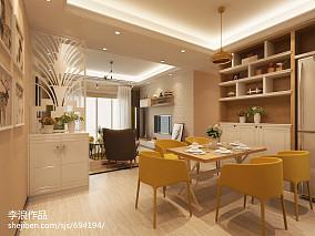 热门面积109平宜家三居餐厅装修欣赏图