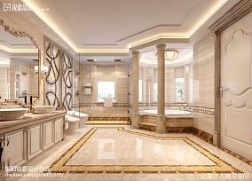 东南亚风格一体式浴室卫生间装修效果图