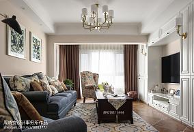 简单美式三居客厅设计图片