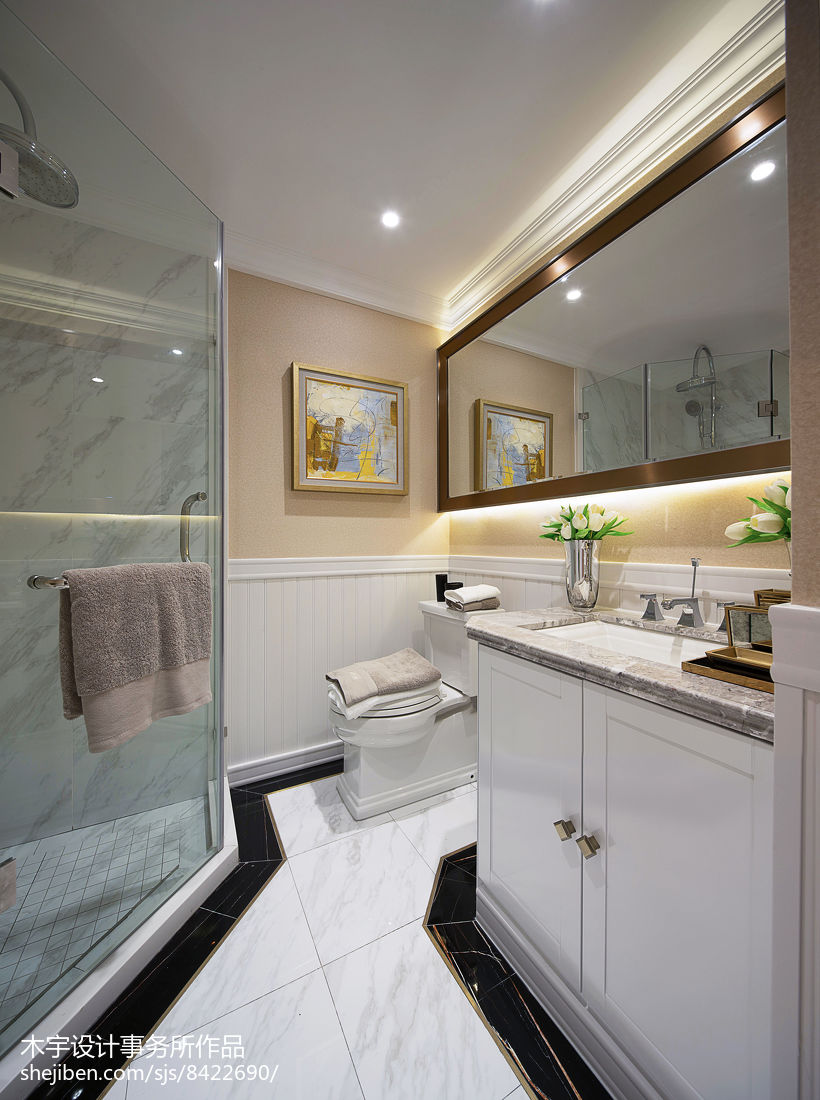 美式样板房卫浴设计图