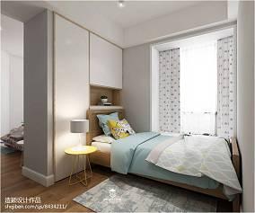 2018精选三居卧室北欧装修设计效果图片