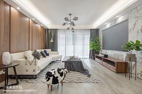 大气112平现代四居客厅装修装饰图