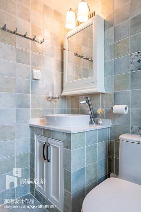 温馨127平美式三居卫生间图片欣赏