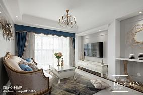 98㎡轻法式客厅设计图