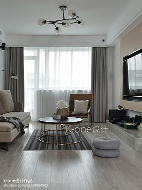 大气64平简约复式客厅装饰图片