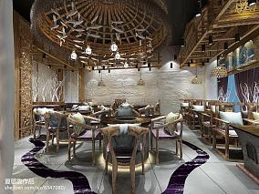 中式现代风格一室一厅装修样板房效果图