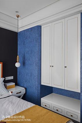 悠雅91平法式三居卧室效果图