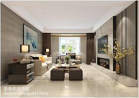 热门105平大小客厅三居现代效果图片大全