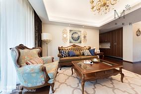 热门面积74平简欧二居客厅装修设计效果图片大全