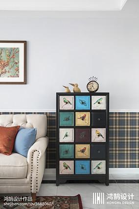 精美大小109平美式三居客厅装修效果图片欣赏