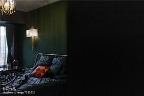 2018137平米四居卧室混搭装修设计效果图