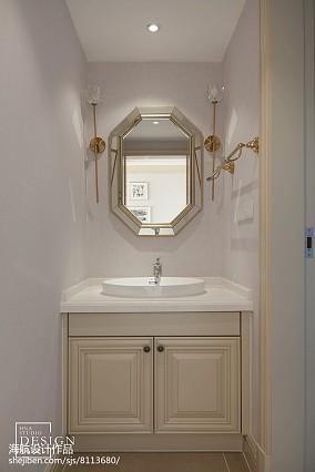 美式三居卫浴洗手盆设计图