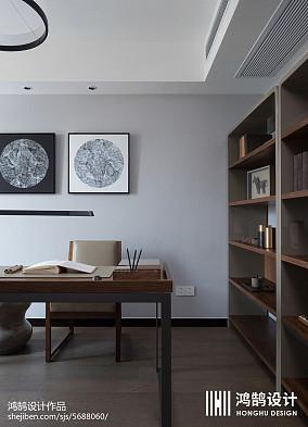 简洁99平现代三居书房布置图