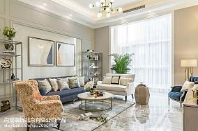 精选面积124平别墅客厅美式装修实景图