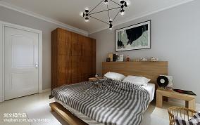 热门面积70平北欧二居卧室装修图片