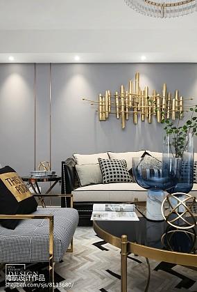 精选127平米四居客厅美式实景图片大全