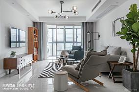 轻奢125平北欧三居客厅装修案例