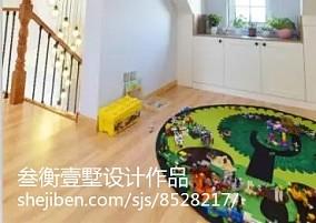 精美122平米美式复式休闲区装饰图片