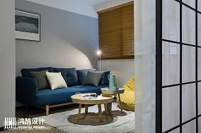 热门80平米二居客厅北欧装修设计效果图