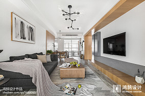 热门103平米三居客厅北欧欣赏图