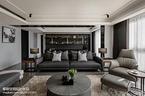 典雅89平现代三居客厅布置图