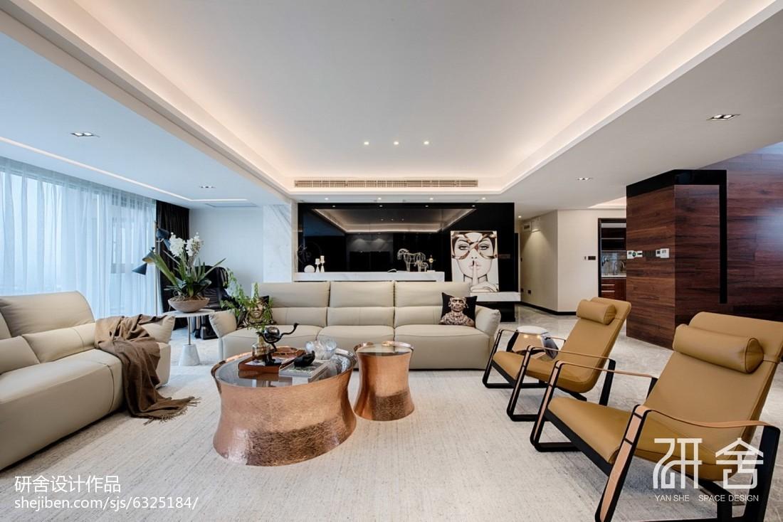 现代都市风客厅沙发设计图