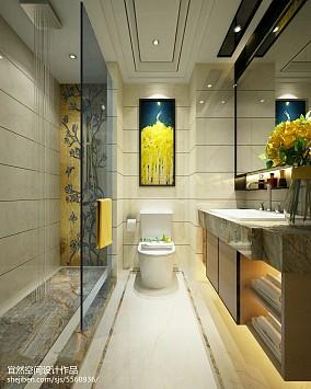 现代小卫生间浴帘图片