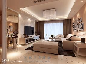 热门106平米三居客厅简约实景图片欣赏