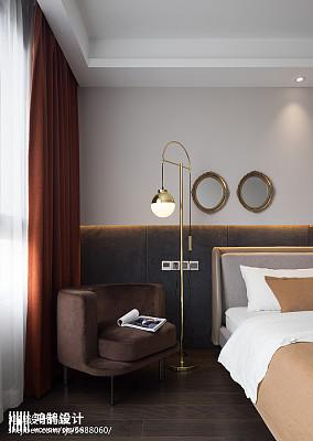 热门108平米三居卧室现代装修实景图