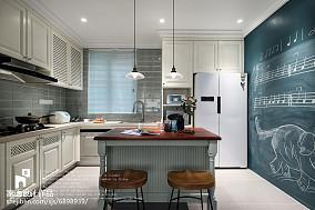 优美122平美式三居厨房装修图片