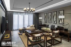 浪漫220平中式三居客厅装修图片