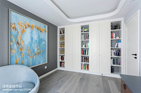 精美100平米三居书房美式装修图