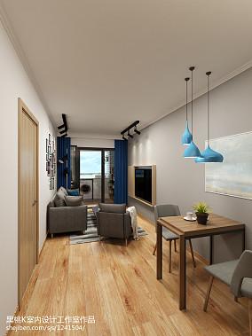 质朴70平北欧二居客厅实景图