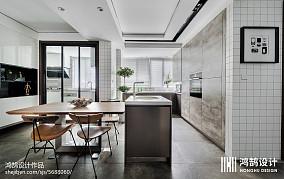 面积102平现代三居餐厅装饰图片