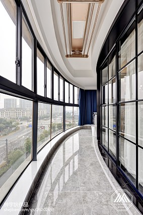 热门面积94平混搭三居阳台装修效果图片欣赏