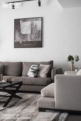 质朴96平现代三居客厅图片欣赏