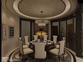 华丽200平中式三居餐厅装饰图片