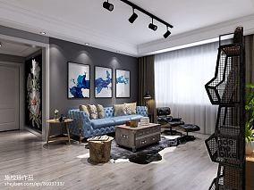 2018精选面积93平三居客厅装饰图