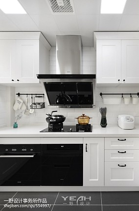 精美103平米三居厨房北欧装修设计效果图