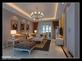 热门面积90平简欧二居客厅装饰图