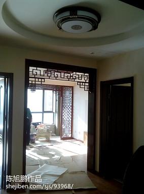 热门中式三居玄关装修效果图片
