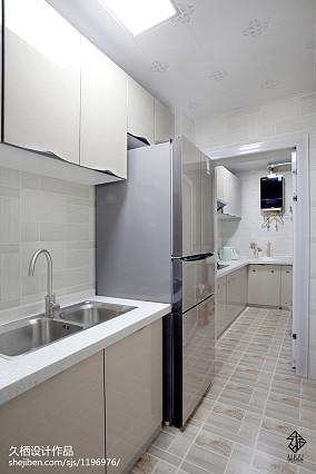 悠雅21平北欧小户型厨房装修设计图