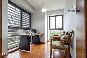 2018精选面积87平美式二居书房装修图片大全
