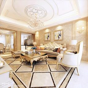 精选100平米三居客厅欧式装修实景图片