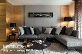精选85平米简约小户型客厅实景图片